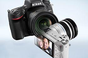 Nikon D610 lustrzanka i Samsung NX300M bezlusterkowiec