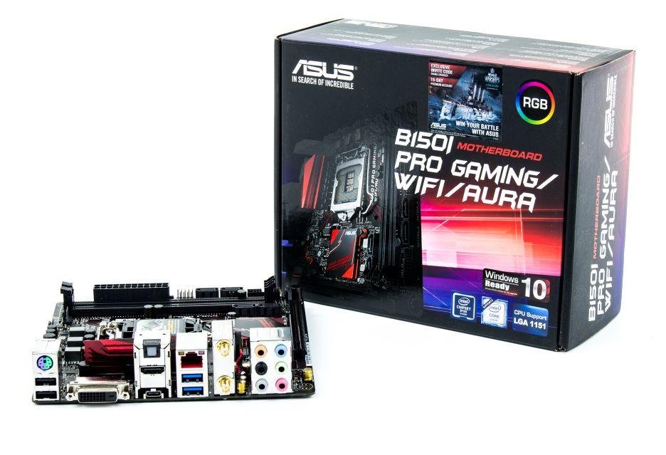 ASUS B150I Pro Gaming/WiFi/AURA - podświetlane maleństwo dla Skylake | zdjęcie 2