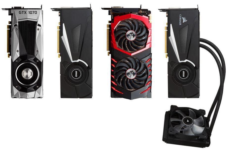 MSI przedstawia cztery karty GeForce GTX 1070