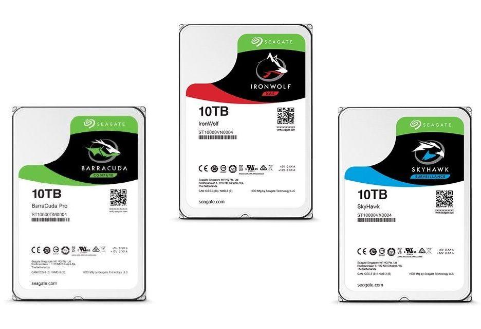 Dyski Seagate BarraCuda Pro, IronWolf i SeaHawk o pojemności 10 TB