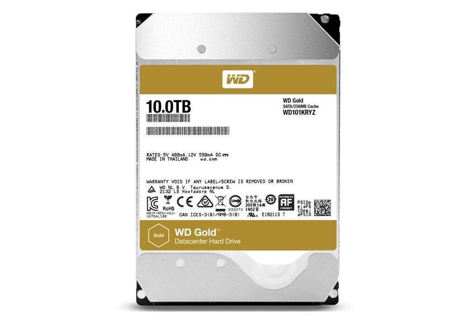 Dysk WD Gold teraz także o pojemności 10 TB