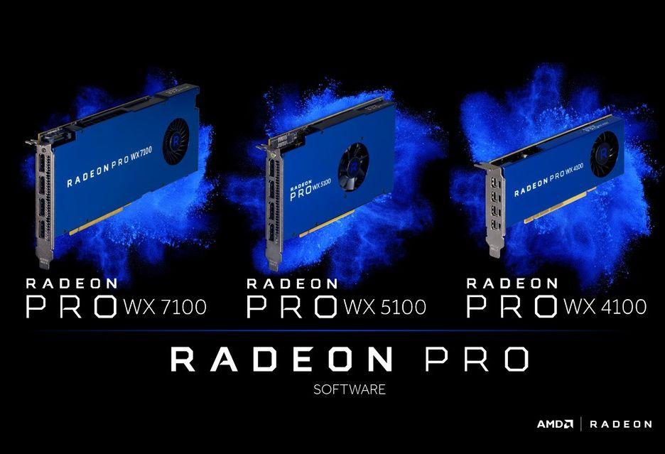 AMD przedstawia profesjonalne karty Radeon Pro WX