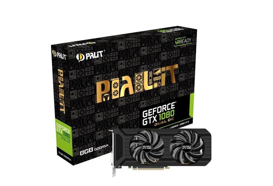Palit GeForce GTX 1080 w ekonomicznej wersji Dual OC