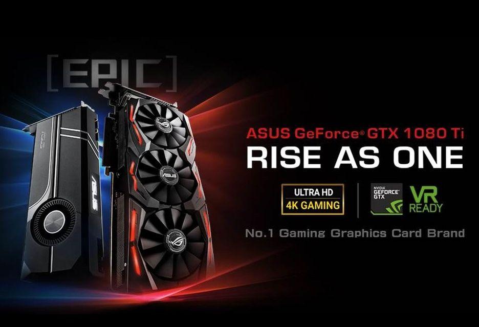 ASUS prezentuje autorskie wersje GeForce GTX 1080 Ti