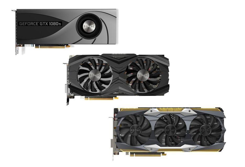 Zotac prezentuje trzy autorskie karty GeForce GTX 1080 Ti