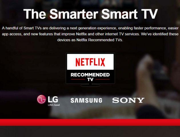 Telewizory rekomendowane przez Netflix