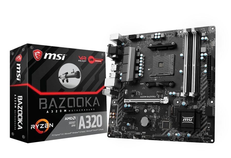 MSI A320M Bazooka - ekonomiczna płyta pod AMD Ryzen