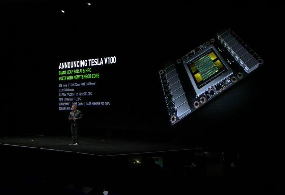 Nvidia przedstawia akcelerator Tesla V100 - pierwszą kartę z generacji Volta