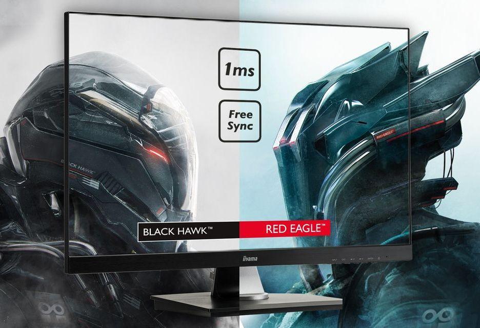 iiyama prezentuje nowe monitory z serii Red Eagle i Black Hawk z FreeSync