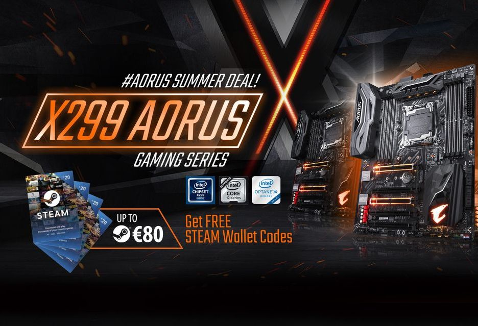Voucher Steam do płyt Gigabyte X299
