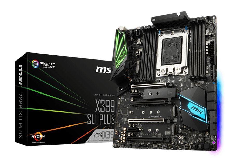 MSI prezentuje drugą płytę pod Threadrippera - X399 SLI PLUS