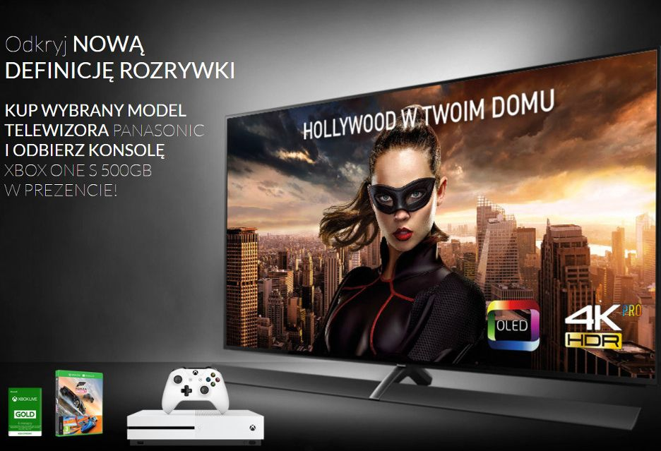 Panasonic dodaje konsole Xbox One S do wybranych telewizorów