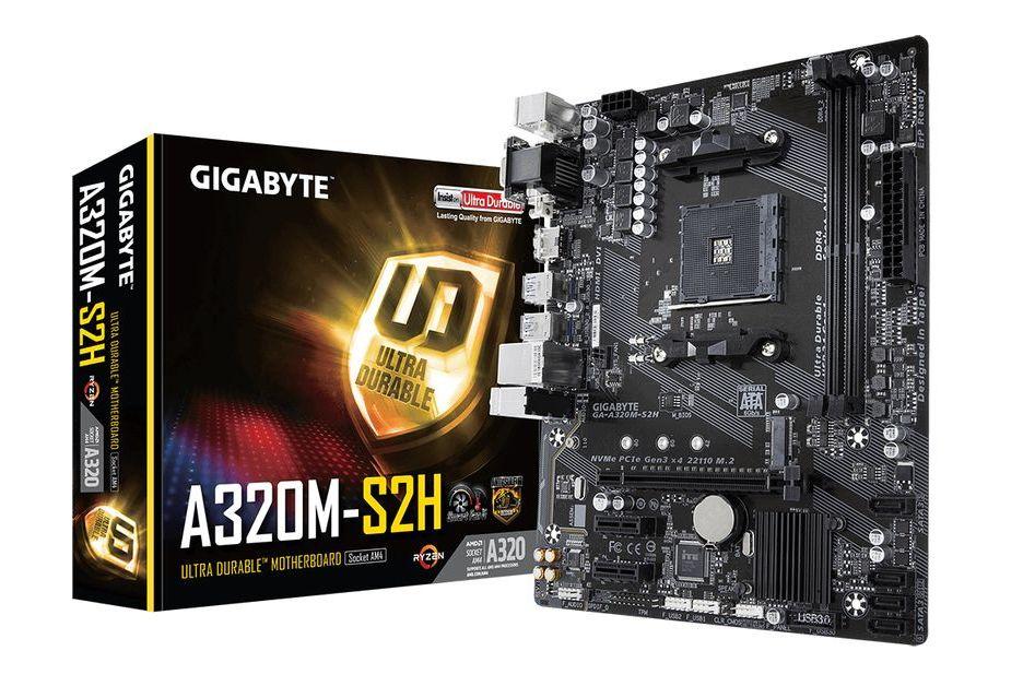 Gigabyte GA-A320M-S2H - niedroga płytka pod AMD AM4