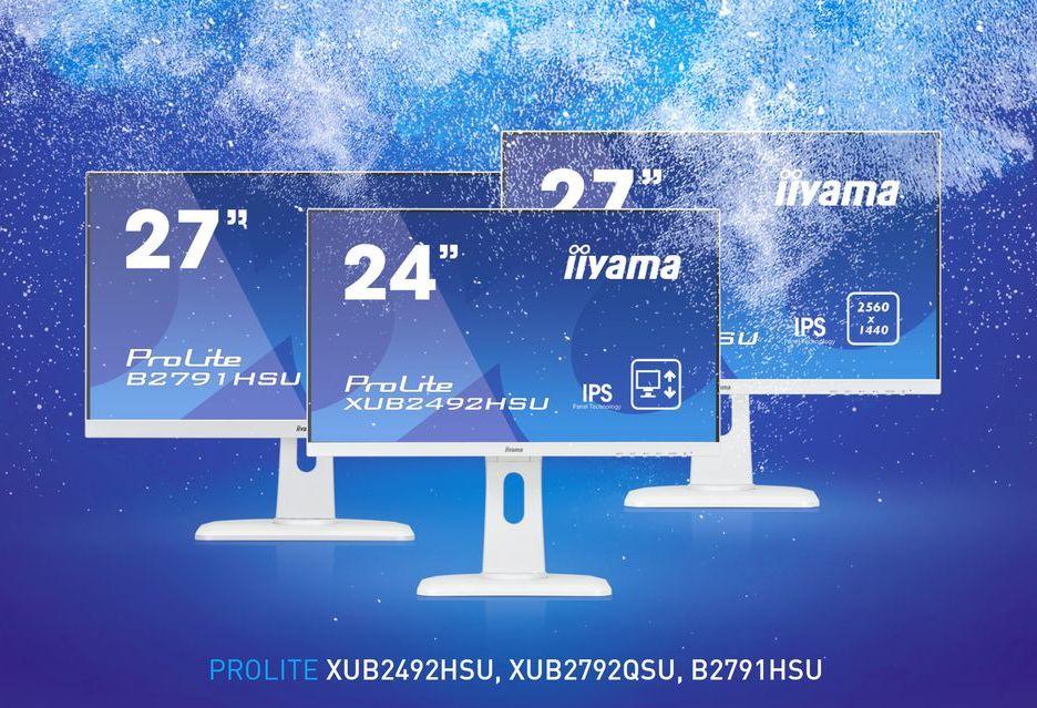 iiyama przedstawia białe monitory o stylowym wzornictwie