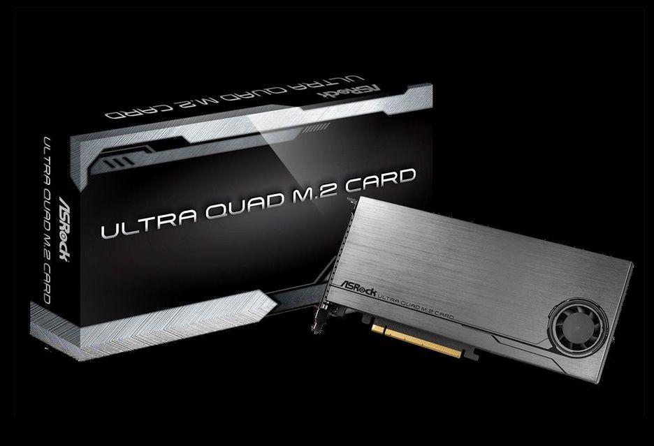 ASRock Ultra Quad M.2 Card - sposób na połaczenie czterech nośników M.2 NVMe