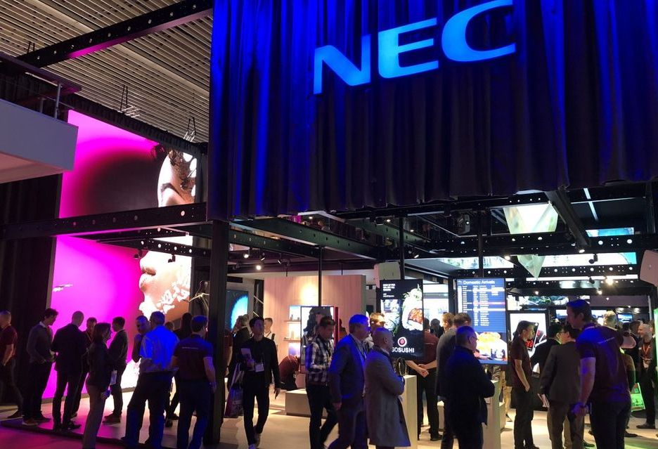 Firma NEC doceniona na targach ISE 2018