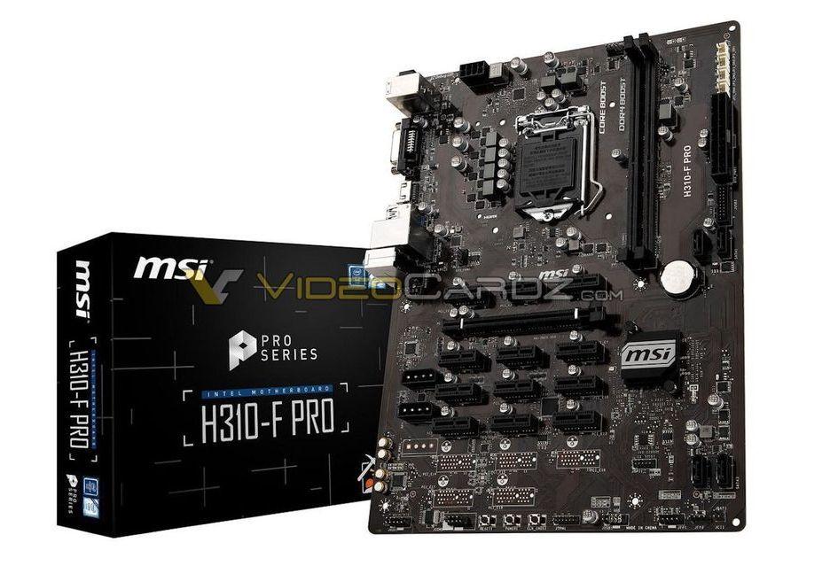 MSI szykuje swoją pierwszą płytę do koparek kryptowalut - obsłuży nawet 13x GPU