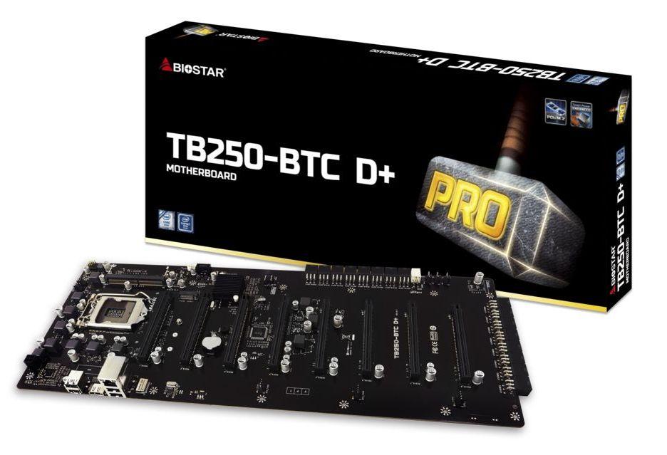 Biostar TB250-BTC D+ - potężna płyta główna do koparek kryptowalut pod 8x GPU