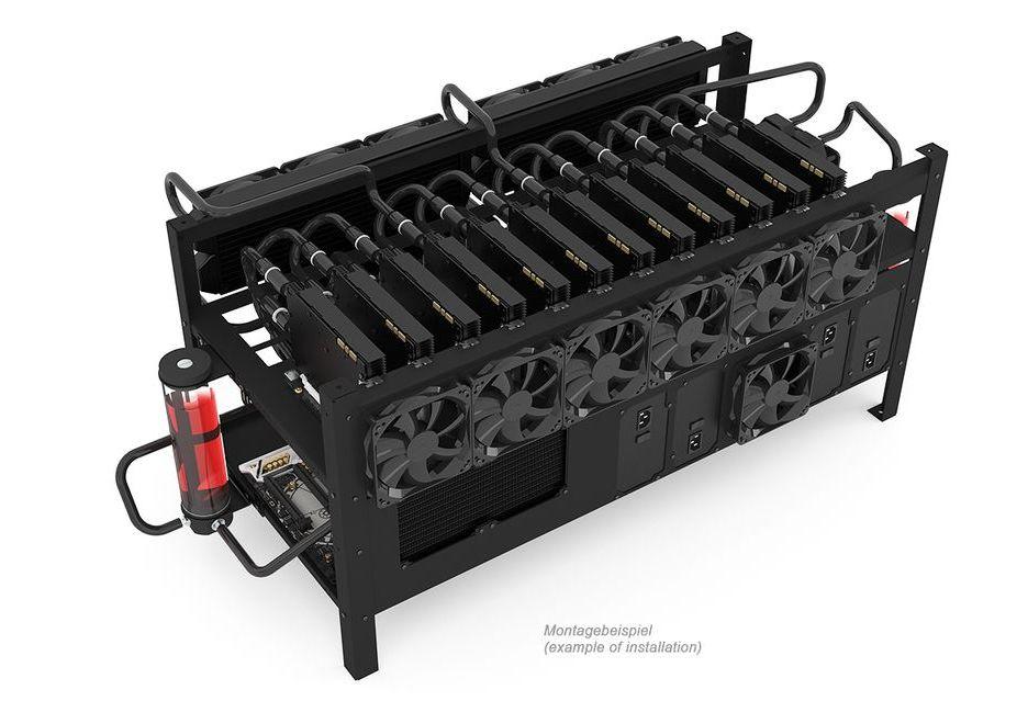 Alphacool prezentuję obudowę dla koparki kryptowalut z opcją montażu chłodzenia LC