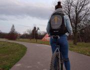 Plecak dla cyklisty - z kierunkowskazami LED