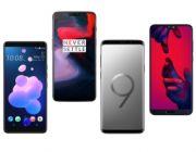 HTC U12+ vs OnePlus 6 vs Galaxy S9+ vs Huawei P20 Pro - porównanie specyfikacji