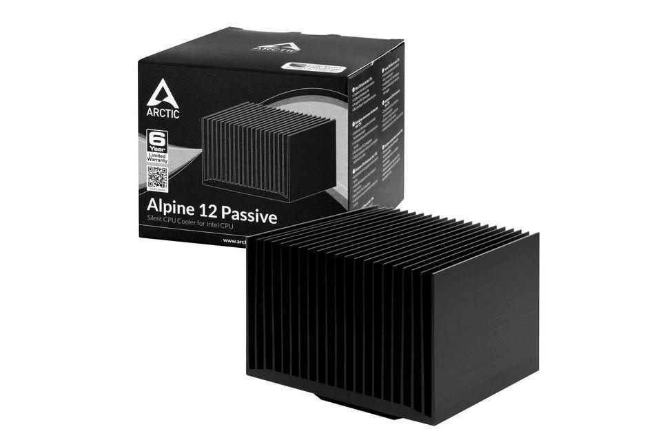 Arctic Alpine Passive - bezgłośne chłodzenia już dostępne w sprzedaży