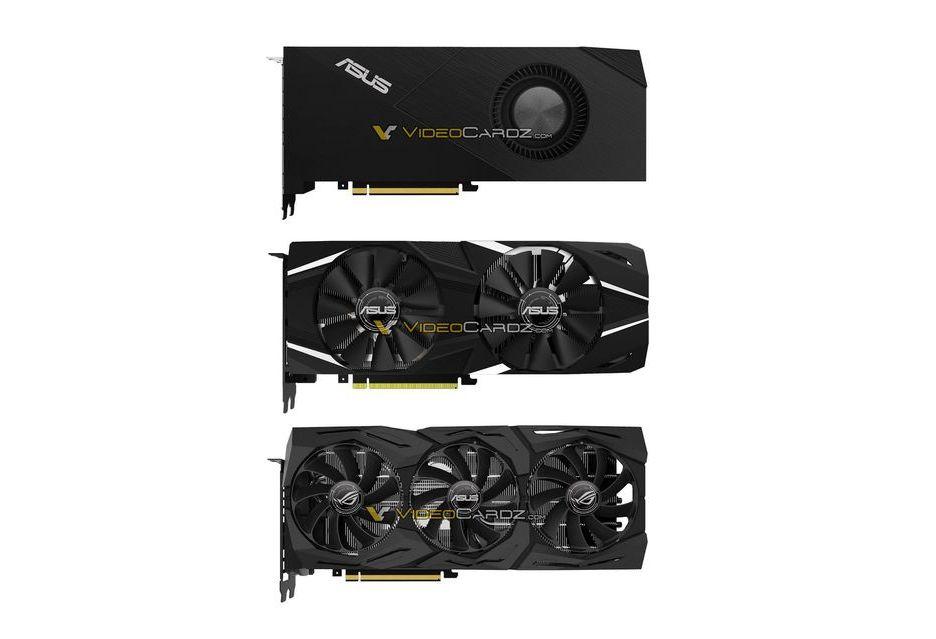 ASUS GeForce RTX 2080 (Ti) w wersji Turbo, Dual i ROG Strix OC
