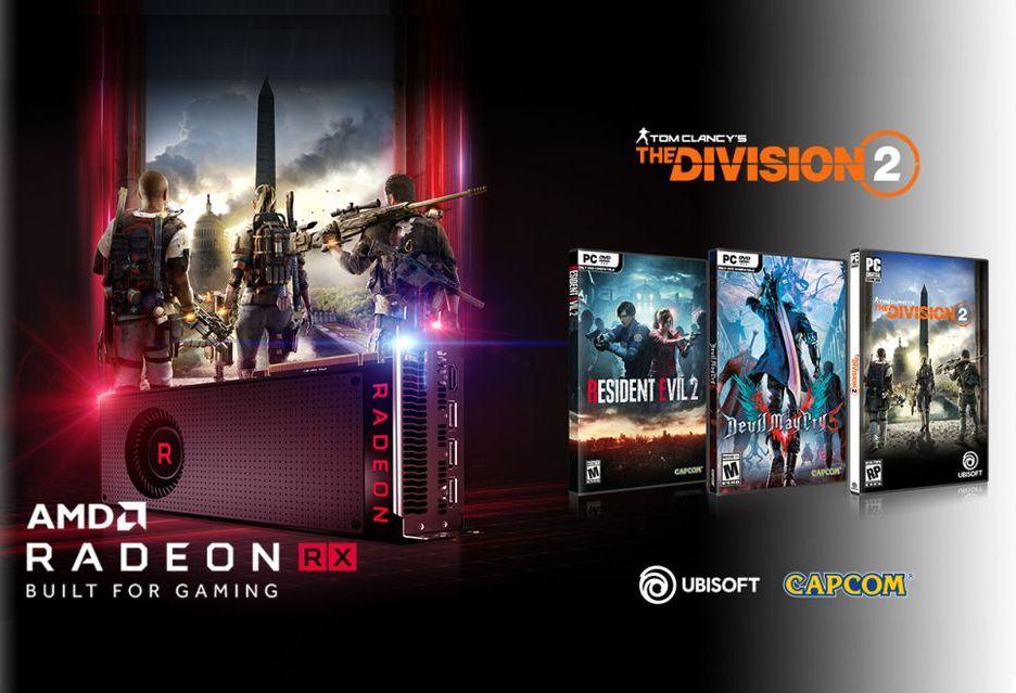 The Division 2, Resident Evil 2 i Devil May Cry 5 za darmo przy zakupie kart Radeon RX