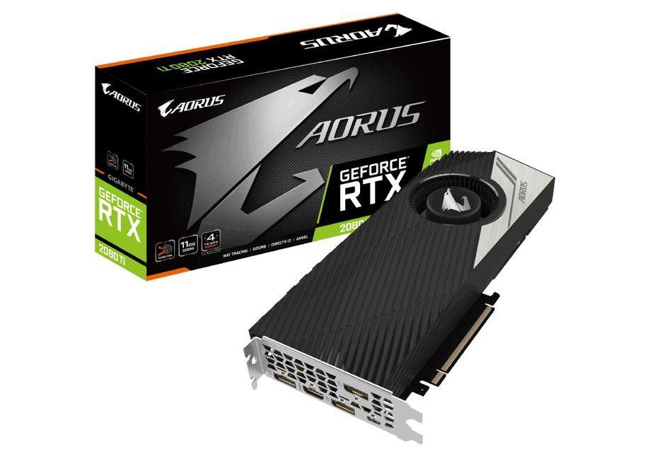 Gigabyte GeForce RTX 2080 Ti w wersji z turbiną i długą gwarancją
