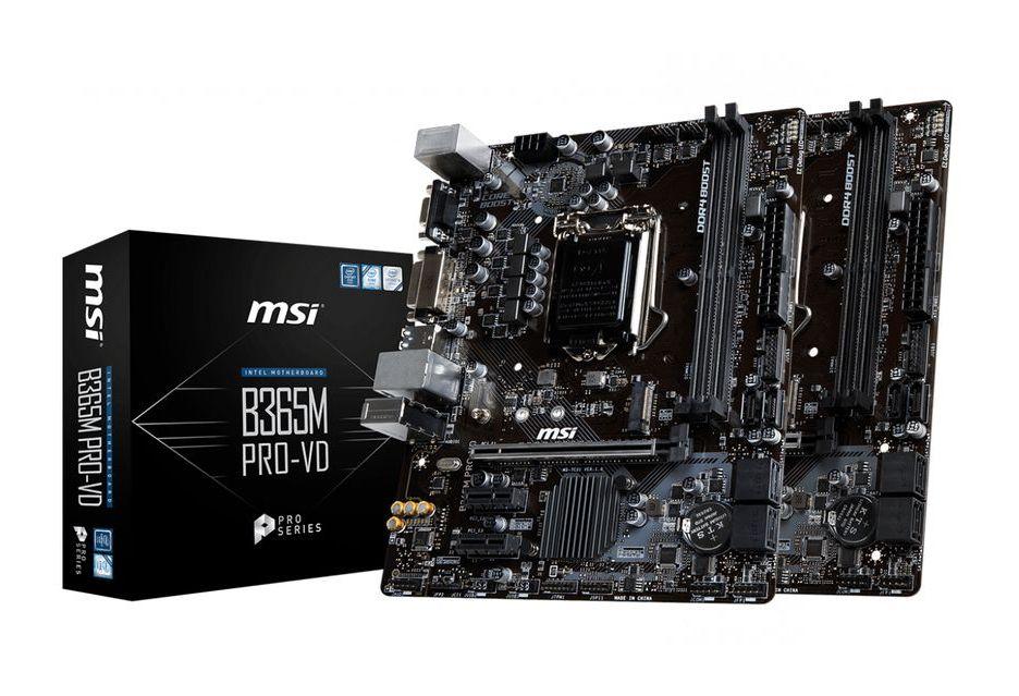 MSI prezentuje dwie podstawowe płyty Intel B365