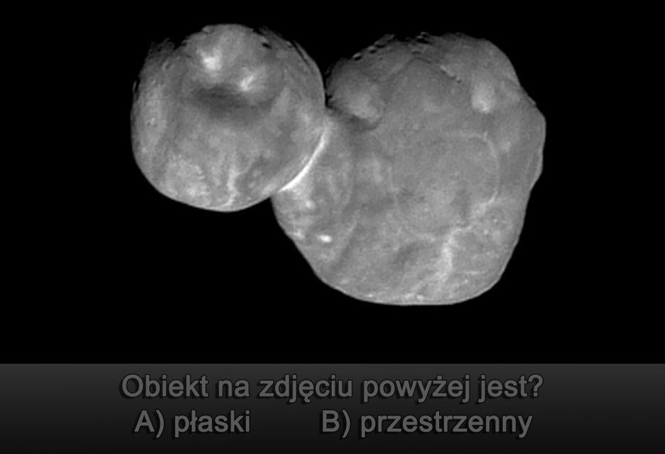 Asteroida Ultima Thule zaskakuje - z bałwana mamy płaszczaka