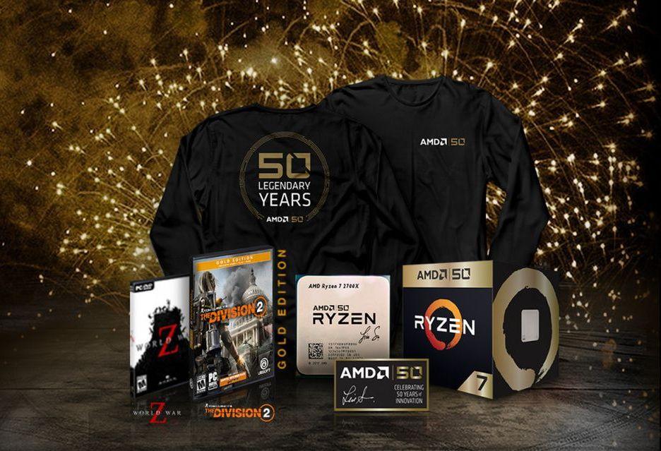 50 lat AMD - specjalna edycja Ryzen 7 2700X i Radeon VII oraz promocja z grami