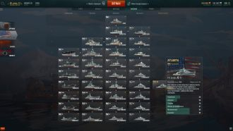 World of Warships - drzewko technologii