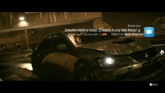 Need for Speed - efekty zderzenia
