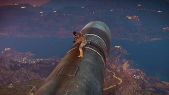 Just Cause 3 - lot na rakiecie