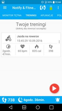 Notify & Fitness for Mi Band trening