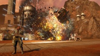 Red Faction: Guerrilla Re-Mars-tered screen wybuch