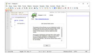 Notepad++ screen