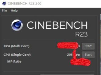 Intel Core i9-12900K - Rendimiento Cinebench R23
