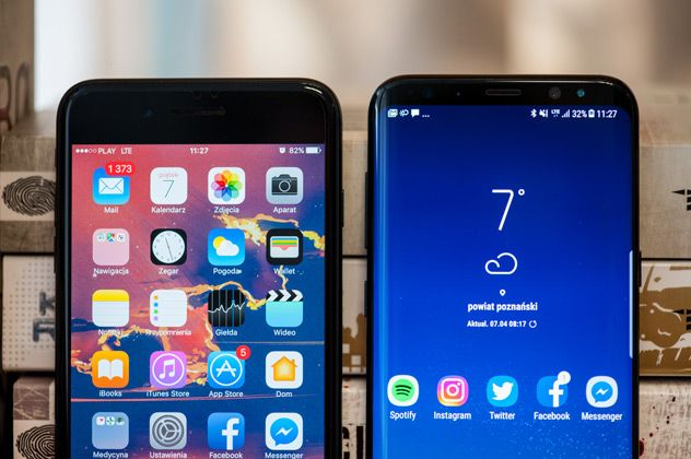 iPhone 7 Plus i Galaxy S8 Plus
