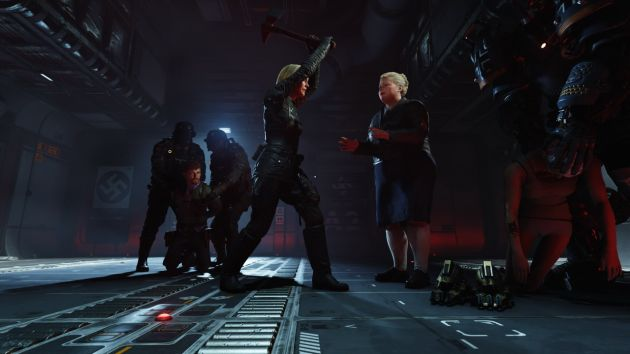 Wolfenstein II: The New Colossus - Frau Engel z siekierą