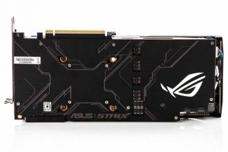 ASUS ROG STRIX GeForce RTX 2080 Super OC - backplate