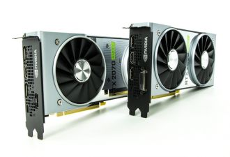 Dwie karty NVIDIA GeForce RTX Super