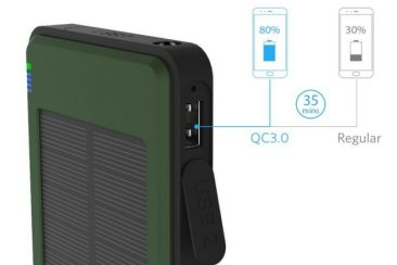VIGLT Solar Charger Quick Charge 3.0