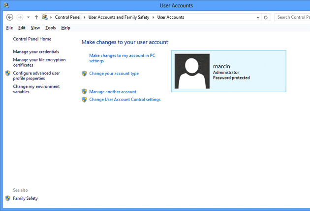 W jaki sposób zakładać konta użytkowników i nadawać uprawnienia w Windows 8 | zdjęcie 1