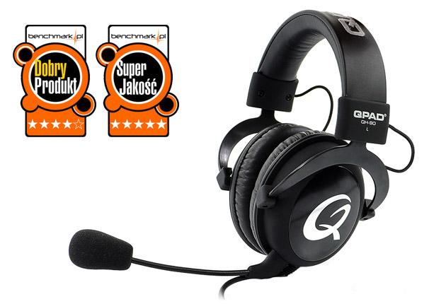 QPAD QH-90 Black - do gier, muzyki i smartfona | zdjęcie 1