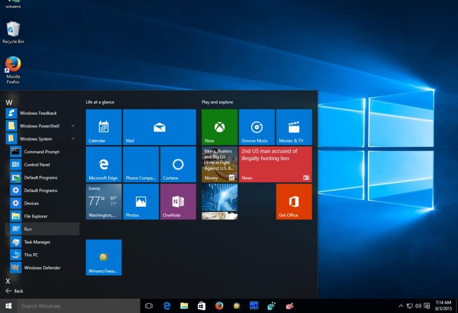 Menu Start systemu Windows 10 będzie zawierać więcej reklam