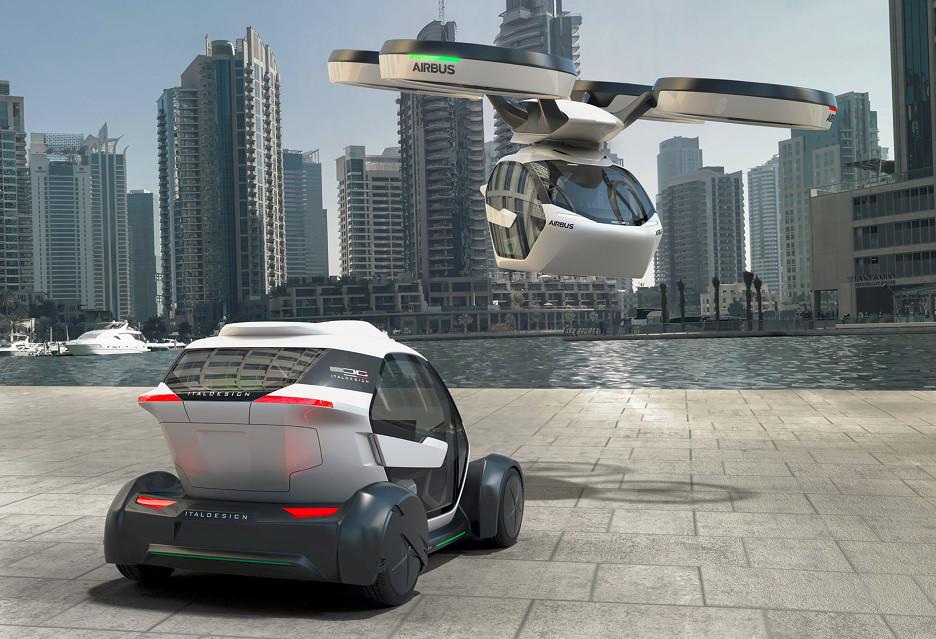 Transport przyszłości według Airbus - Pop.Up to auto, dron i wagonik w jednym