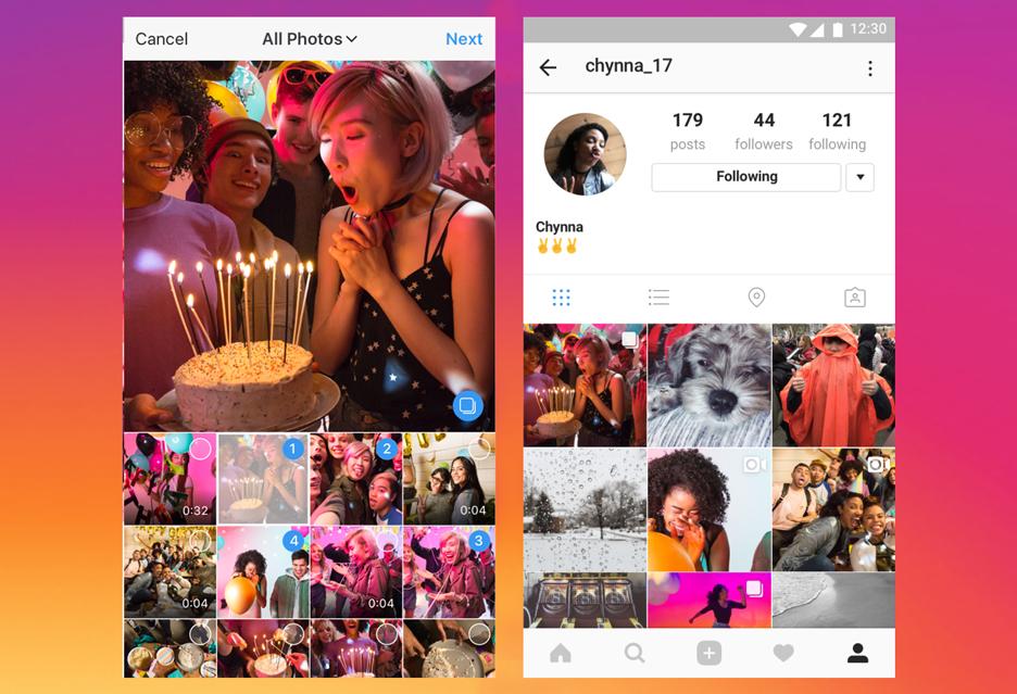 Historia Instagrama - czy podąża w dobrym kierunku dodając albumy ze zdjęciami?
