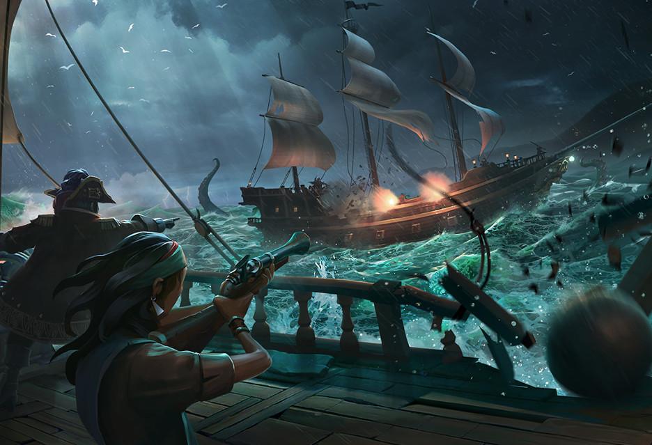 Tak wyglądają pirackie starcia okrętów w Sea of Thieves